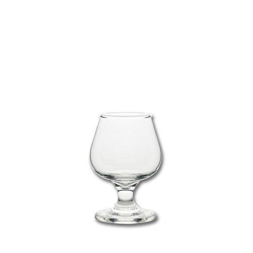 10 Strawberry Street Fiero Mini 5 Oz Brandy Glass, Set of 6, Clear Glass (Glasses Mini Brandy)