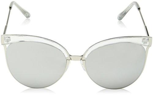 Ants Look Mujer 55 de Gafas Plateado New para Silver Sol Mirrored Sw5qnUf