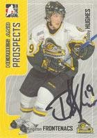 Bobby Hughes Kingston Frontenacs - OHL 2005 In The Game Heroes and Prospects Autographed Card. This item comes with a certificate of authenticity from Autograph-Sports. Autographed