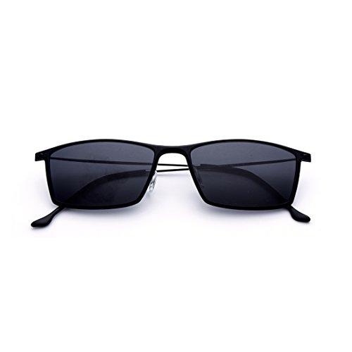 de Cadre de Soleil Femmes pour Black Lunettes Hommes Sakuldes polarisées Lens de carrées Color Black Frame Black Lunettes Soleil Black et Frame Lens pêche wXI5qO