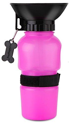 Lachmann - Bebedero de Agua Portatil Para Perros y Gatos Con Recipiente Plástico Botella 500 ml