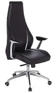 Hjh office 600150 silla de oficina carmino 20 piel negro for Sillas para oficina office max
