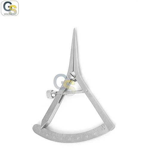 G.S STAINLESS STEEL CASTROVIEJO CALIPER DENTAL GRADUATED 0-40MM by G.S Dental (Image #1)