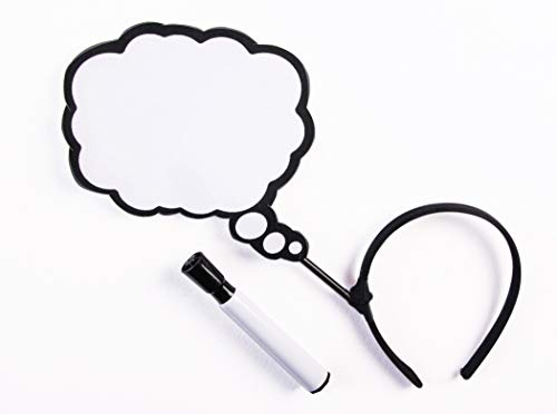 Comic Book Makeup Halloween Costume (Forum Thought Bubble Erase Board Headband One Size Fits)