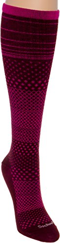 Sockwell Women's Micro Grade Moderate Compression Socks (Port, S/M)