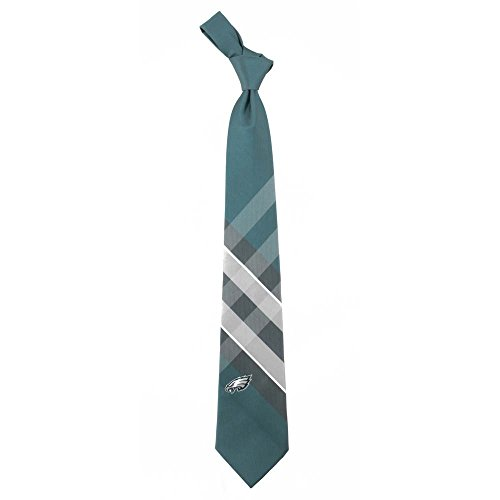 NFL Philadelphia Eagles Men's Woven Polyester Grid Necktie, One Size, Multicolor
