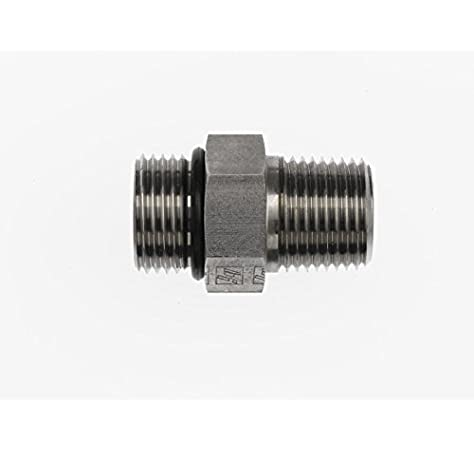 Steel Brennan 3//4 in Male Flat Face O-Ring x 1//2 in Male O-Ring Boss 15 Units Straight Adapter