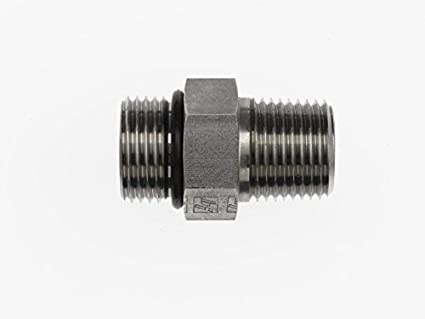 Steel 1-1//4 in Male Flat Face O-Ring x 1 in Male O-Ring Boss Straight Adapter 3 Units Brennan