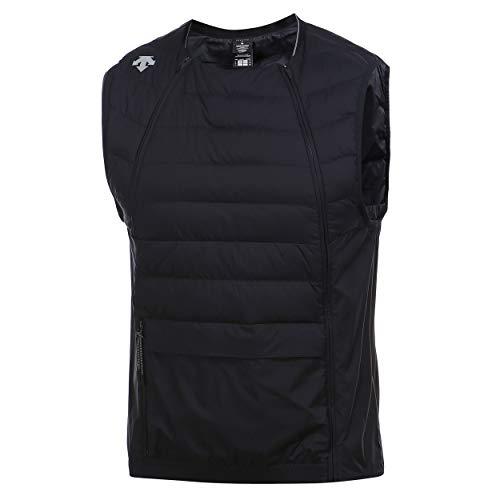 Descente Men's Packable Zipper Lightweight Down Vest Black