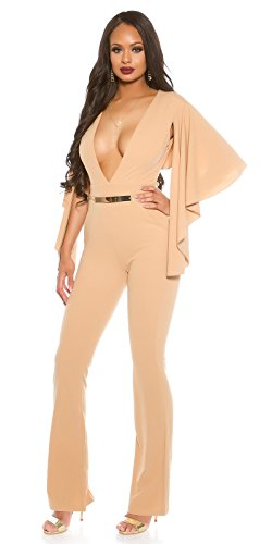 L Beige Combinaison stylefashion In Femme qxwSX74BY