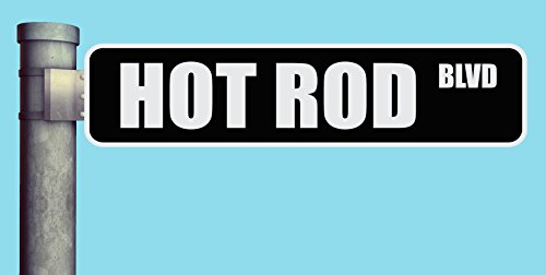 - HOT ROD BLVD STREET SIGN BOULEVARD HEAVY DUTY ALUMINUM ROAD SIGN 17