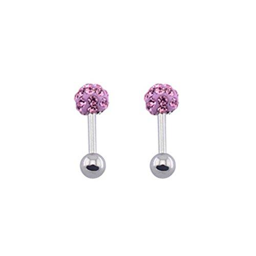 fonk: Crystal Ferido Ear Cartilage Tragus Piercing Oreja Cartilago Earrings Alargador Orelha Ragus Helix Stud Ring Earring Barbell