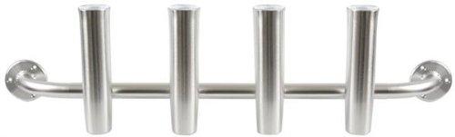Taco Metals Marine Aluminum 4-Rod Adjustable Transom Rod Rack/Brushed/Packaged/Rod Holder( Length 10-Inch, Rod Holder Inside Diameter 1 7/8-Inch, Full Length 40 - Mount Rod Transom