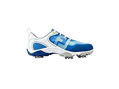 692fe533e536be Footjoy FJ Junior Boys Golf Shoes, (White/Blue), 4 UK: Amazon.co.uk ...