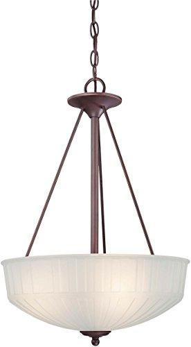 Minka Lavery Pendant Ceiling Lighting 1737-1-167, 1730 Series Large Bowl, 3 Light, 300 Watts, Bronze