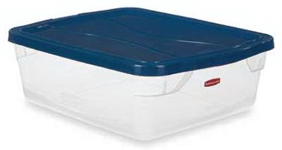 Rubbermaid FG3Q2400CLCBL 15 Quart Clever Store Non Latching Storage Bin by Rubbermaid