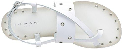 Jonak 342-14073/Cu/E4 - Sandalias de Vestir de cuero mujer Blanco - blanco