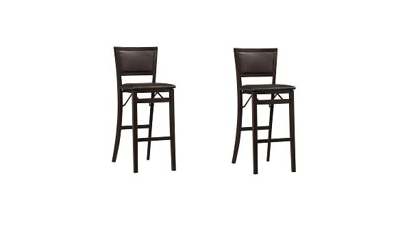 Pleasant Linon Keira Pad Back Folding Bar Stool 2 Pack Camellatalisay Diy Chair Ideas Camellatalisaycom