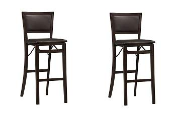 Excellent Linon Keira Pad Back Folding Bar Stool 2 Pack Camellatalisay Diy Chair Ideas Camellatalisaycom