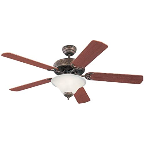 Monte Carlo 5HS52TBD L Homeowner Deluxe Ceiling Fan 52 Tuscan Bronze