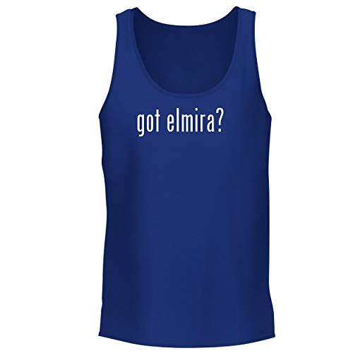 (BH Cool Designs got Elmira? - Men's Graphic Tank Top, Blue,)