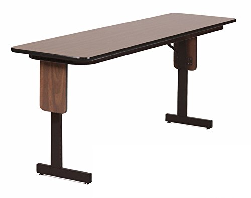 Correll SP1896PX-01 High Pressure Laminate Classroom, Training or Seminar Table with Folding Panel Leg  , Rectangular, 18''x96'' , Seats 4, Walnut by Correll