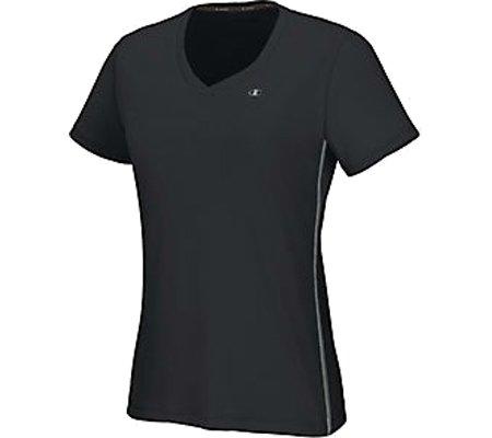 Champion Women`s Vapor® PowerTrain Short Sleeve Tee (Set of 2),Black/Medium Gray
