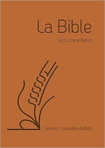 Amazon Fr La Bible Version Semeur 2015 Avec Gros