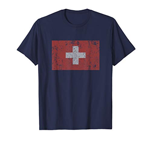 Switzerland Flag Swiss White Cross Red Bern Zurich T Shirt ()
