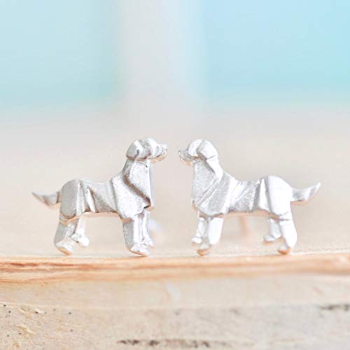 Origami Dog Earrings in Sterling Silver 925 - Jamber Jewels
