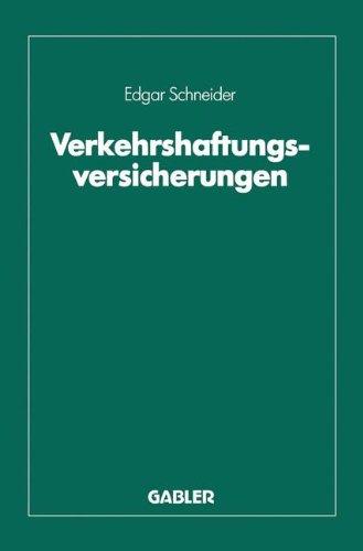 Verkehrshaftungsversicherungen (German Edition) by Gabler Verlag