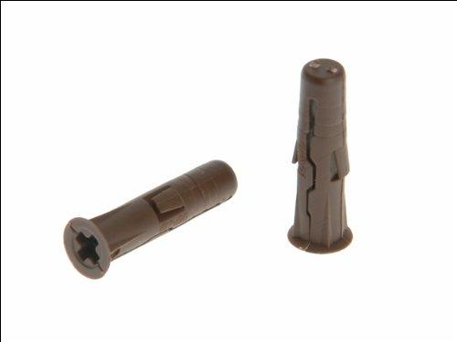 Rawlplug 68560 7 x 30 mm Uno Plug Card - Brown (96 pieces) Hardware PLASTIC PLUG FIXING UNO Wall Plugs Plasterboard