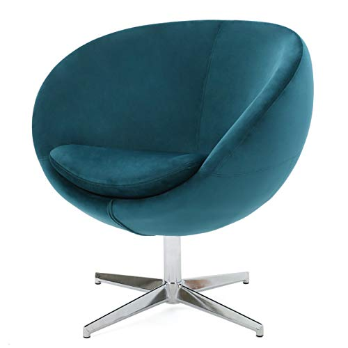 Great Deal Furniture 299533 Sphera Dark Teal Velvet Modern Chair,