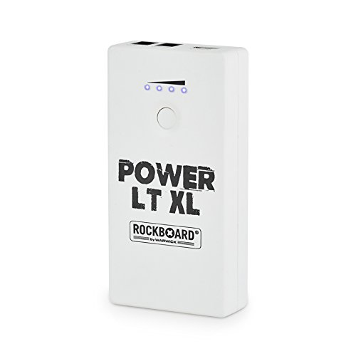 Rockboard Power RBO LT XL Rechargeable Power Supply for Guitar Effects (Satin White)
