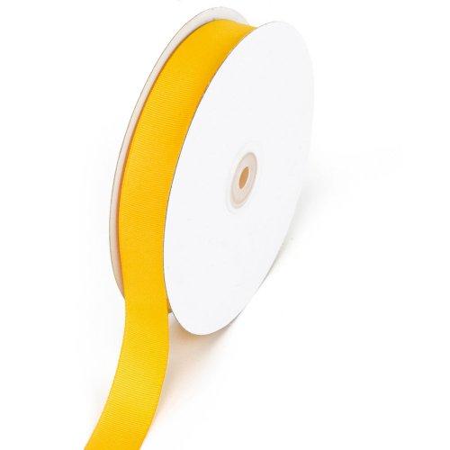 Creative Ideas 7/8-Inch Solid Grosgrain Ribbon, 50-Yard, Light Gold