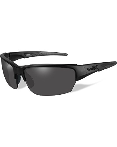 Wiley X Men's Ops Saint Grey Matte Sunglasses Black One - Ops Sunglasses Black