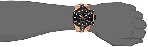 cd288713a2c Amazon.com  Invicta Men s 5728 Reserve Collection Black Ion-Plated and Rose  Gold-Tone Chronograph Watch  Invicta  Watches