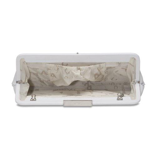 White - Eveningbag Clutch Bag 4783 Woman Auguri Picard Paint Leather