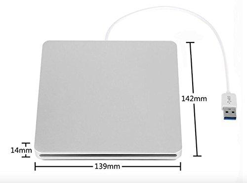YP DVD/CD Burner External Slot-in Drive DVD VCD CD RW Player Burner Superdrive for Apple Macbook Pro Air iMAC by YP (Image #3)