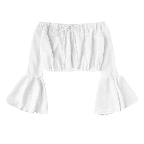 [S-XL] レディース Tシャツ 無地 ストラップレス ベルスリーブ 短いパラグラフ シフォン シャツ 長袖 トップス おしゃれ ゆったり カジュアル 人気 高品質 快適 薄手 ホット製品 通勤 通学