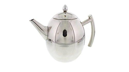 Cheftor 51-oz/1.5-Liter Polished Stainless Steel Teapot Kett