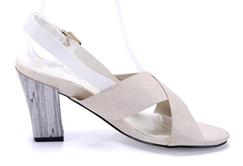 Schuhtempel24 Damen Schuhe Sandaletten Sandalen Blockabsatz