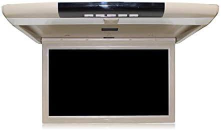 17 Pulgadas 1080P Reproductor MP5 para automóvil, Monitor abatible hacia Abajo para automóvil, Monitor LCD, televisor de Techo para Bus, FM + IR + USB + TF + HDMI,Beige: Amazon.es: Electrónica