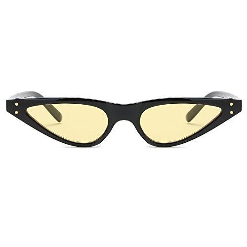 Sol De Negro De kimorn Pequeña Metal Plástico Gafas Bisagras De De Ojos amp;amarillo Mujer K0578 Para Gato Marco qwwUE5A