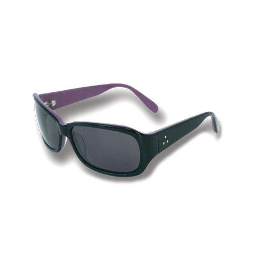 【FAB/ファブ】FUNKY FAB サングラス クリアレンズ UVカット ファッション スポーツサングラス 全7色 FREE BK×PURPLE/smoke   B077D4X689