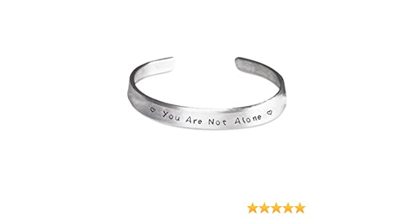 CyberHutt West You are Not Alone Stamped Bracelet