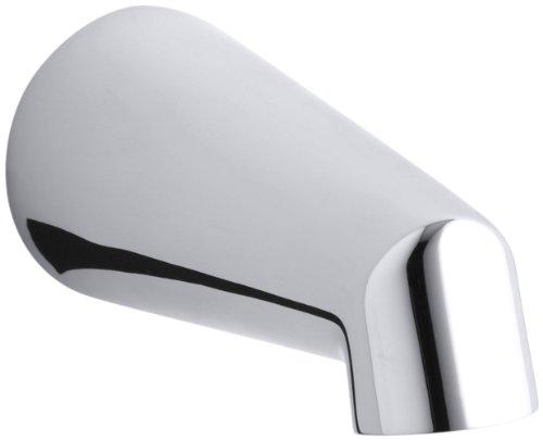 well-wreapped KOHLER K-6854-CP Standard Non-Diverter Bath Spout, Polished Chrome