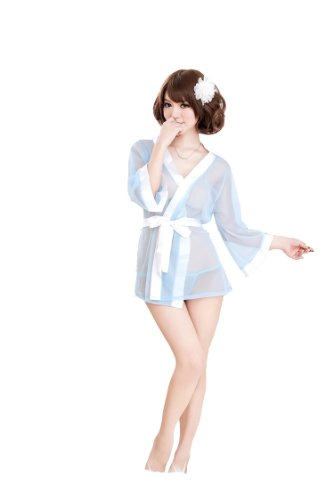 Women's Sexy Lingerie Sheer Kimono Printed Satin Nightgowns