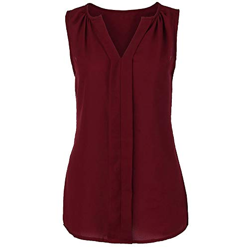 POQOQ Tank Top Women Happy Camper Vest Sunrise Graphic Print Sleeveless T Shirt Blouse 4XL Wine