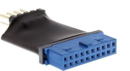 InLine 33449L USB 3.0 auf 2.0 Adapter interne 19 Pin Pfostenstecker